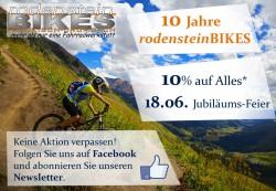 10 Jahre rodenstein-BIKES Deckblatt